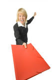 fury business woman with red folder poster