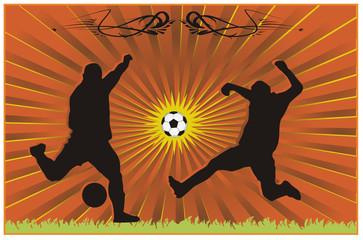 composicion de futbol en vector