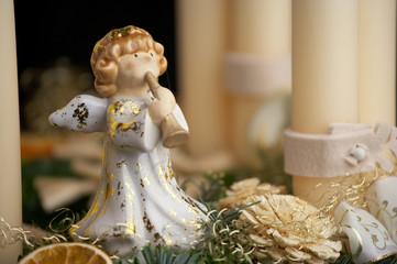 angel on advent wreath