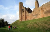 people visiting a ruined Elizabethan castle poster