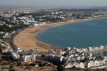 Die Bucht von Agadir in Marokko