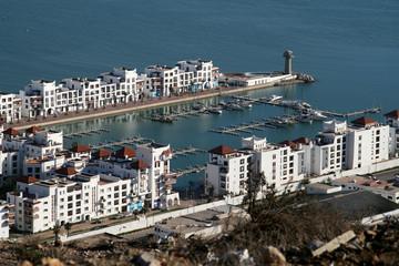 Der Yachthafen von Agadir in Marokko