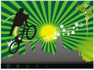 deporte extremos cicla en vector