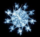 Abstract symmetric fractal like snowflake poster