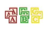 ABC alphabet blocks poster