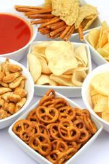 Snacks and salsa dip