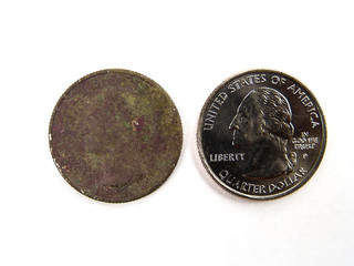 Rusty Brown and New US Quarter Coin
