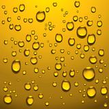 golden liquid drops poster