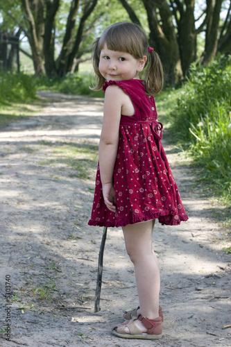 Looking back girl