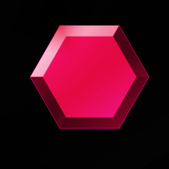 Ruby Gemstone 3D