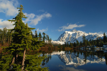 picture lake and mt.shuksan