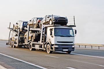 """car carrier truck deliver batch to dealer """"trucks"""" series"""