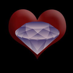 diamond in a heart