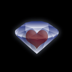 heart in a diamond