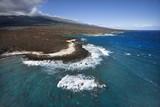 Coast with lava rocks. poster