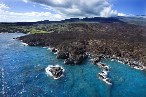 Hawaiian coast.