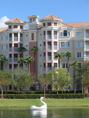 Vacation Resort Buildings & Swan Lake