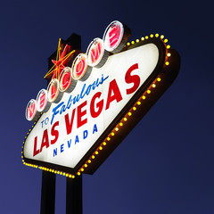 Las Vegas welcome sign.