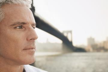 Pensive Man by River