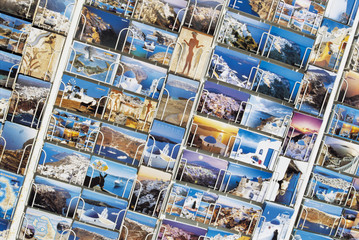 Postcards in Display Rack