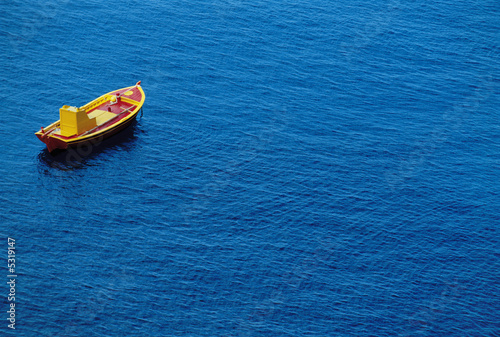 Small Boat on Water
