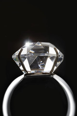 Diamond ring, close up