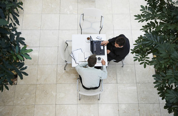Businessmen Working at Computer