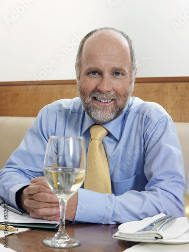 Businessman in restaurant, portrait