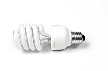 compact fluorescent light bulb - twisted tube