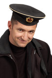 military sailor in black uniform poster