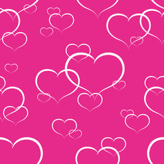 a seamless pattern with hearts