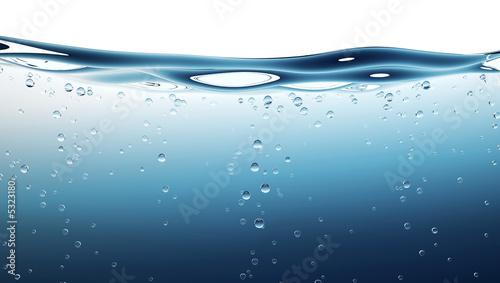 Leinwanddruck Bild water wave
