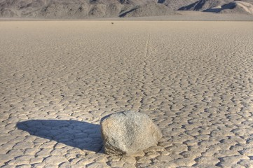 Moving rock,  Death Valley National Park CA