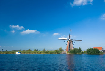 beautiful windmill landscape