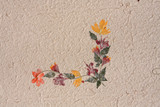 Handmade paper with real flower petals poster
