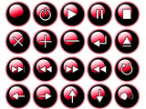 Glossy Red Buttons poster