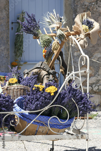 composition florale : bouquet de lavande en Provence