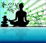Fototapety femme en méditation