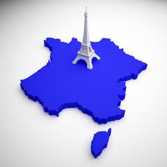 France Map - Tour Eiffel