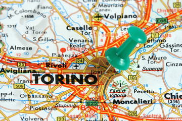 Turin on the map