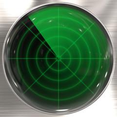 Vintage radar display