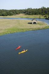 Boys kayaking.