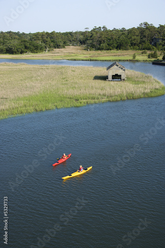 Boys kayaking.