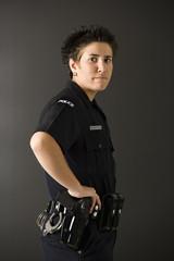 Female police.