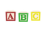 Vibrating ABC alphabet blocks poster