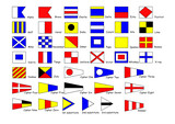 International signal-flags poster