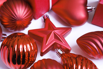 Weihnachte, Stern, Herz, Kugeln, Dekoration