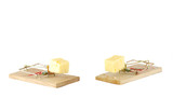 Two Mousetraps with cheese again white poster