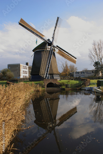 Windmill in an autumn landscape