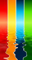 sfondo fasce colorate